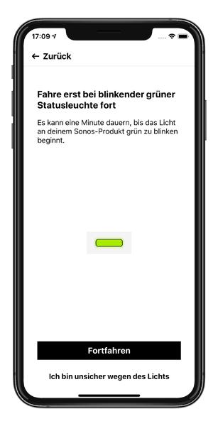 Mockup SONOS App Lautsprecher hinzufügen