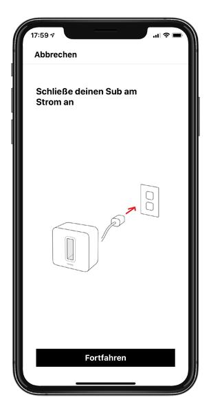 Mockup SONOS App SUB hinzufuegen