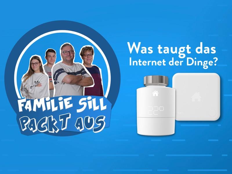 """Vorschaubild für das Video """"Tado das smarte Thermostat - Familie Sill packt aus!"""""""