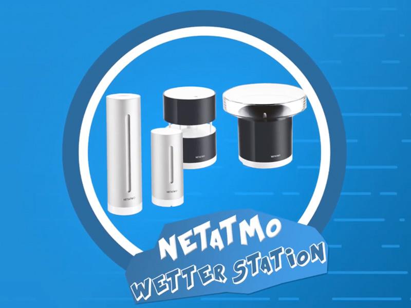 Die Netatmo Wetterstation: Besteht aus einem Windmesser sowie Regenmesser plus einem Innenmodul.