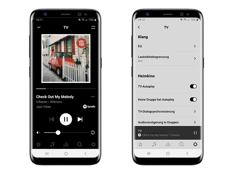 Die Sonos S2 App