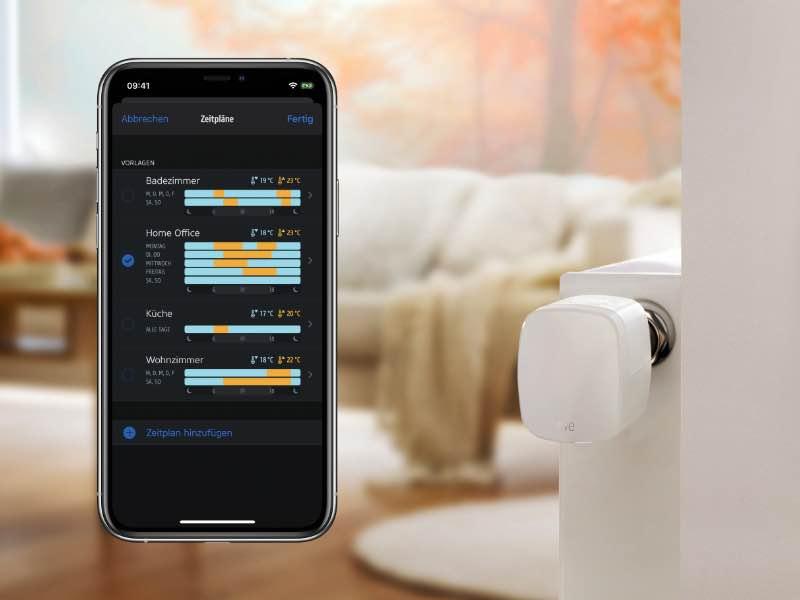 Eve Thermo - Energieeffizienz dank Thread-Technologie, smarten Zeitplänen und Automationen.