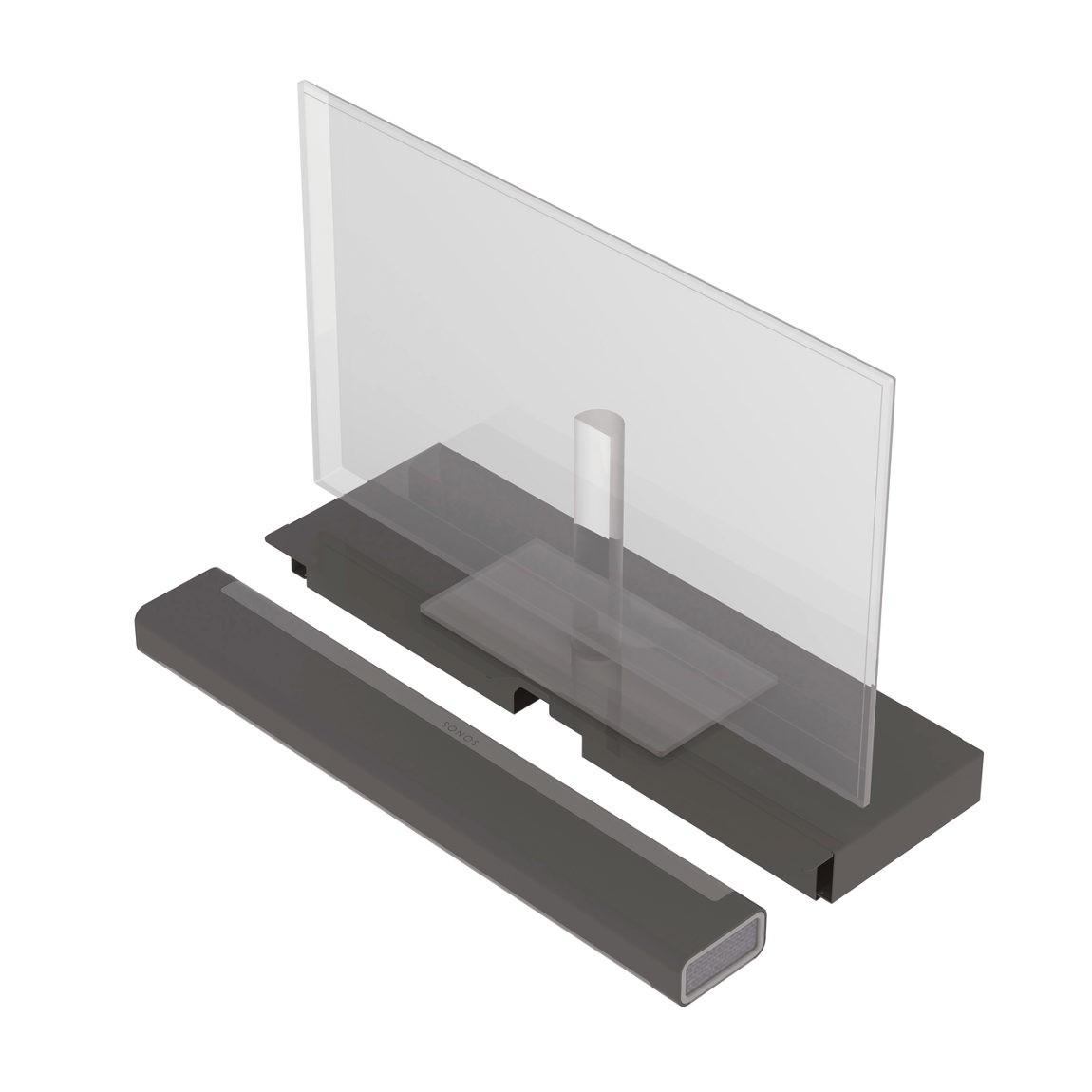 Flexson TV-Tischmodul für Sonos PLAYBAR - Schwarz