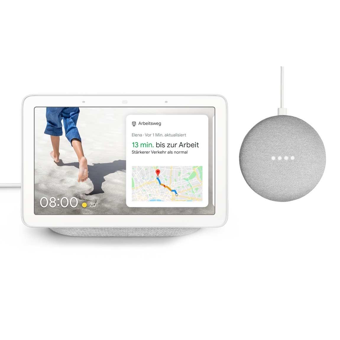 Google Nest Hub + Google Home Mini