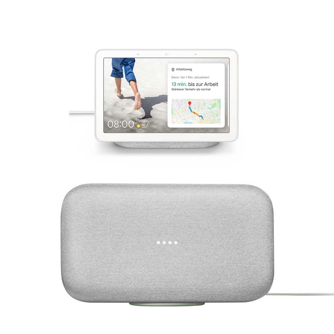 Google Nest Hub + Google Home Max