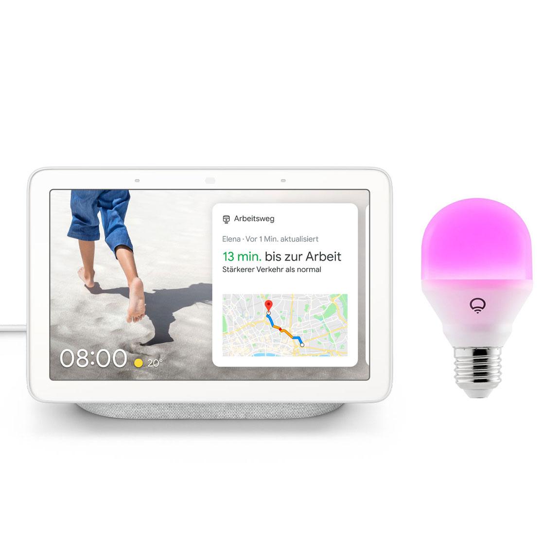 Google Nest, LIFX Google Nest Hub + LIFX Mini Colour E27