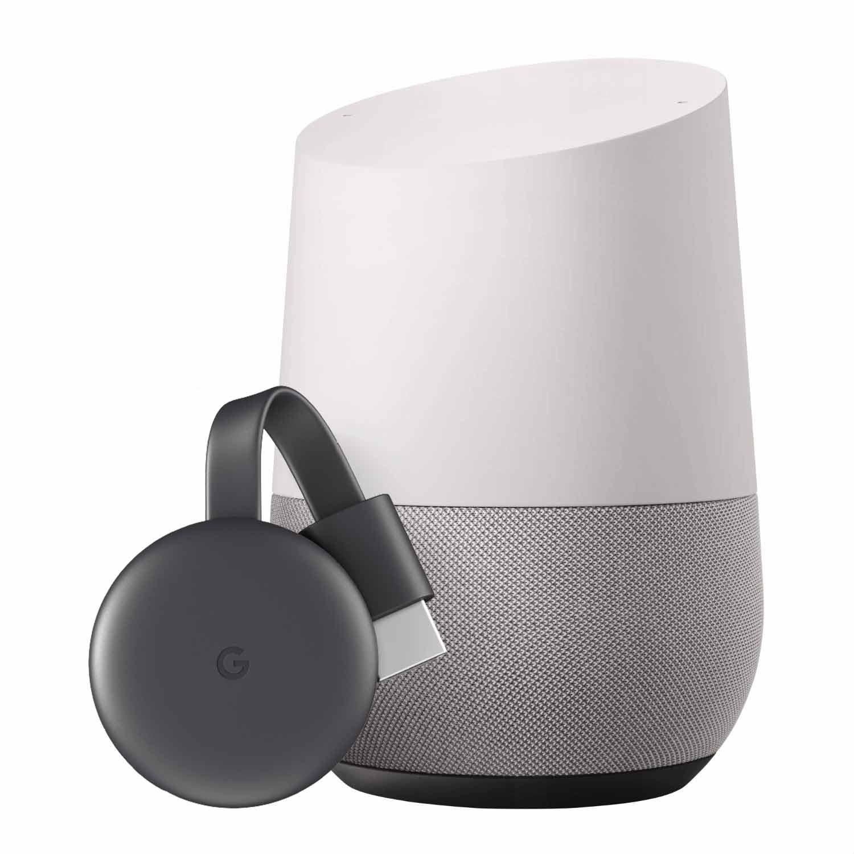 Google Nest Google Home + Google Chromecast