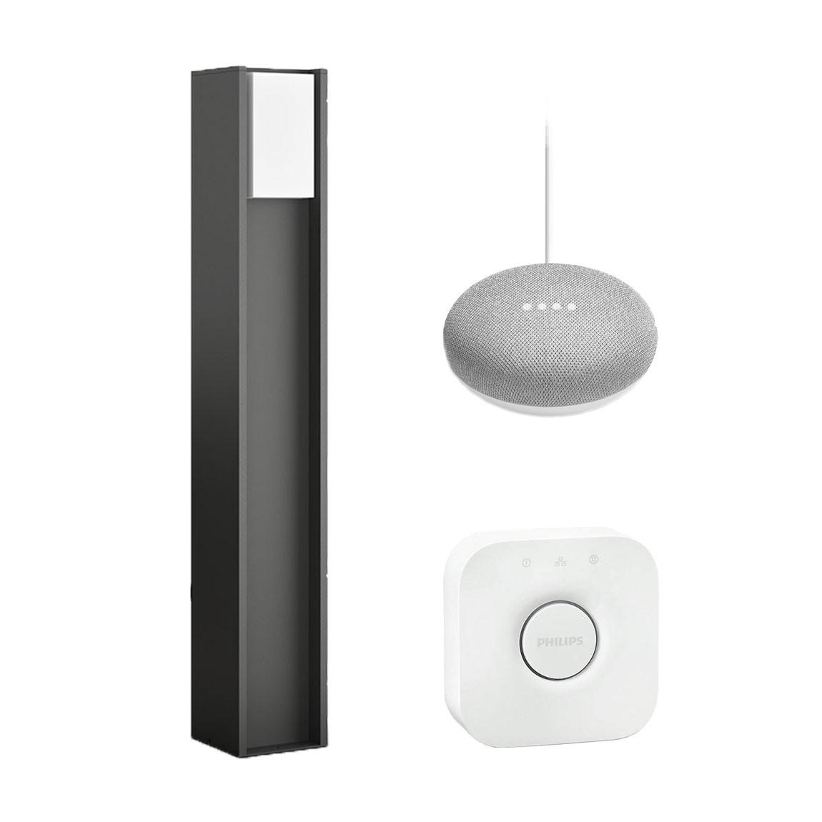 Philips Hue Garten Starter Set Turaco Wegeleuchte + gratis Google Home Mini