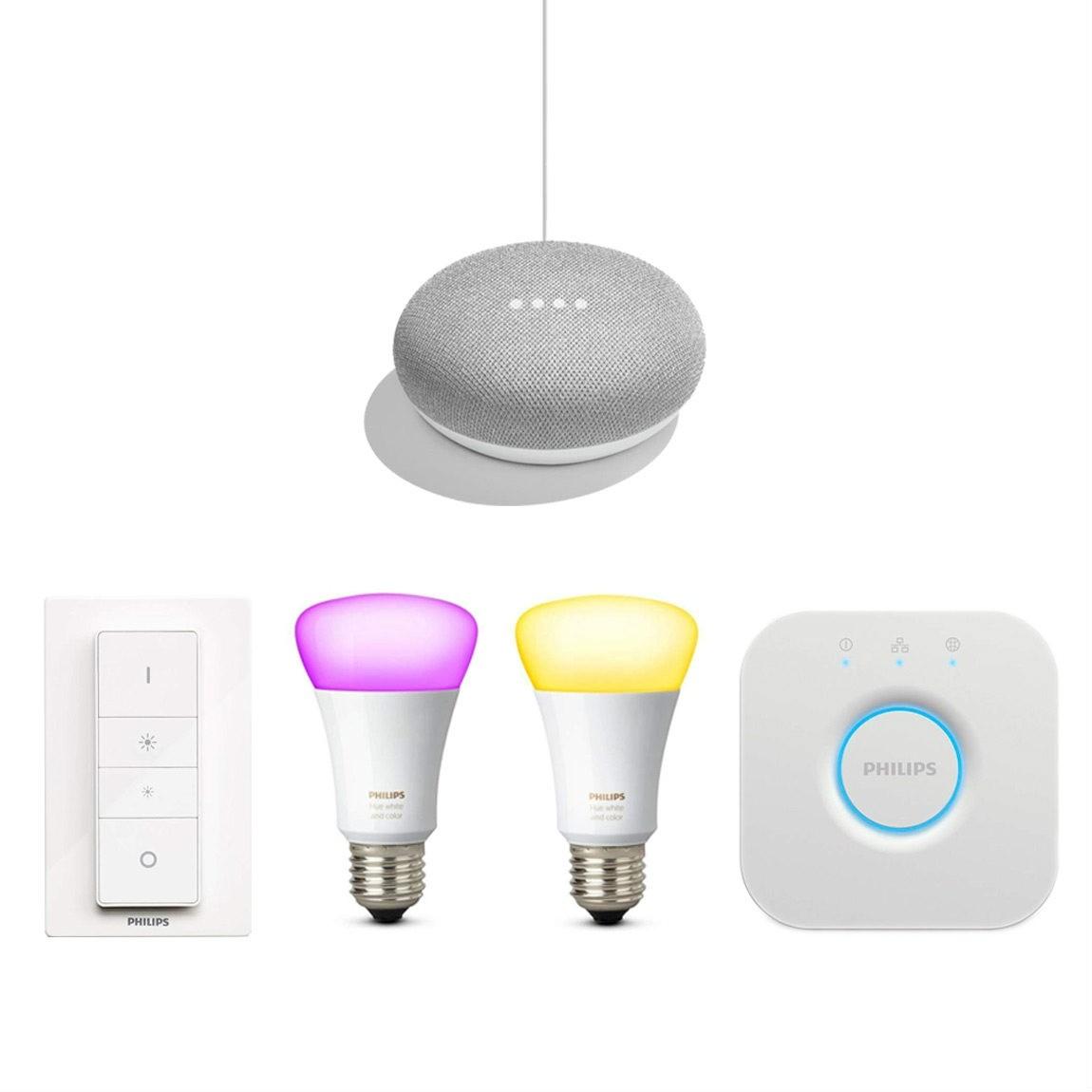 Philips Hue Color Starter Set lite + gratis Google Home Mini