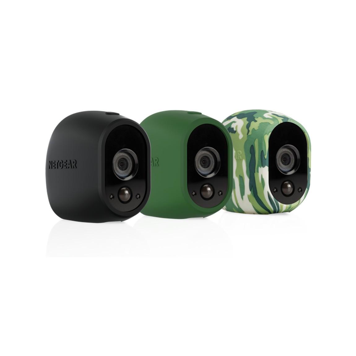 NETGEAR Arlo austauschbare Silikonbezüge - 3er-Set (VMA1200) - Black Camouflage Green