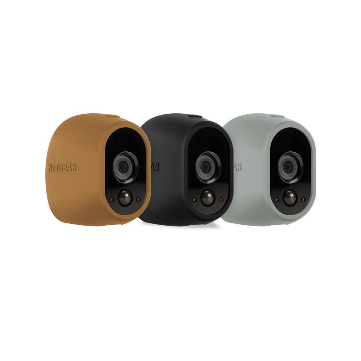 NETGEAR Arlo austauschbare Silikonbezüge - 3er-Set (VMA1200) - Brown Black Grey