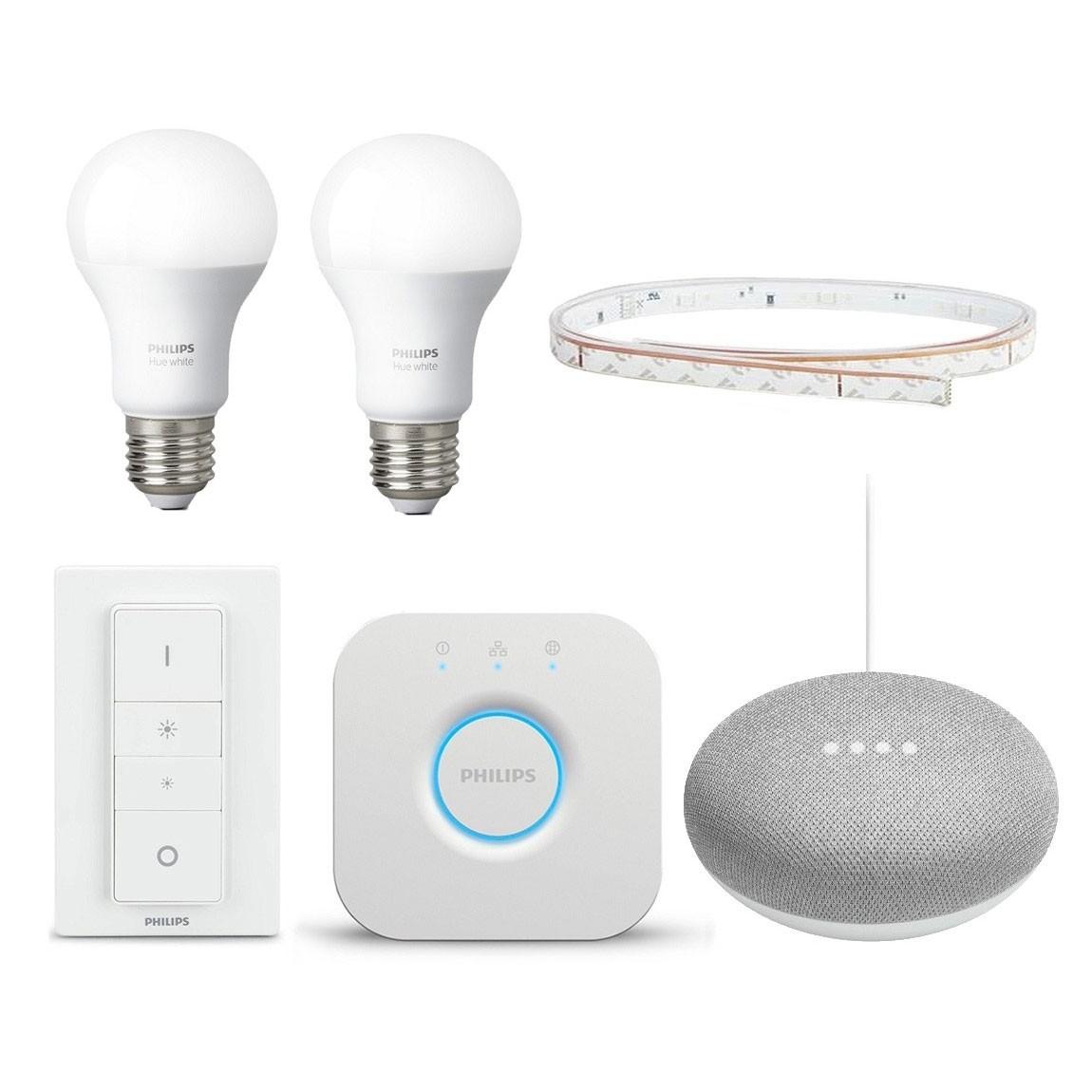 Philips Hue LightStrip Smart Starter Set + gratis Google Home Mini
