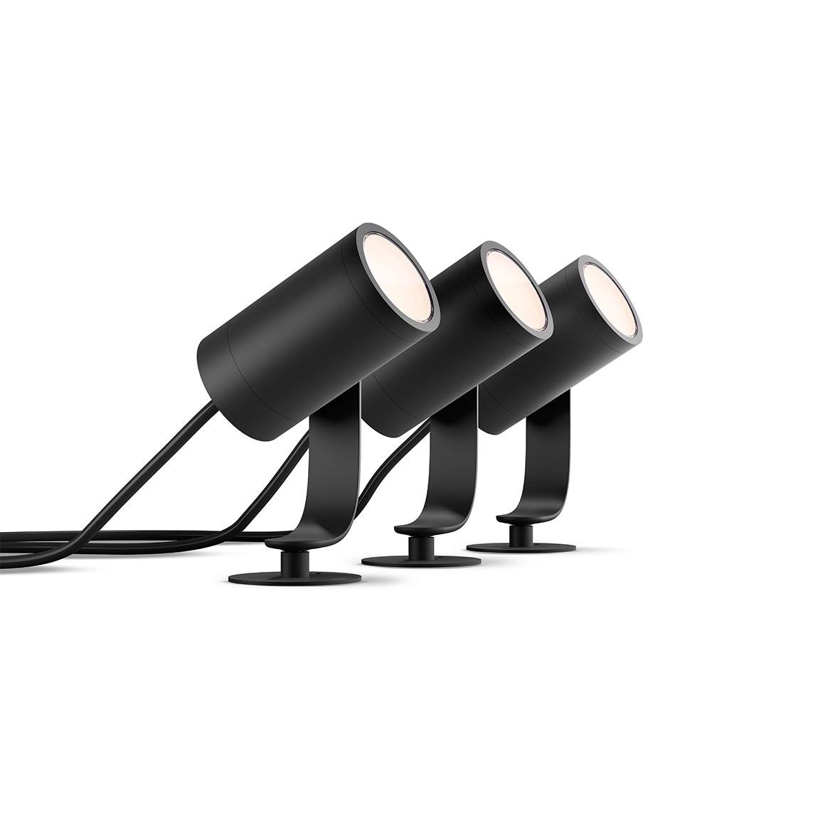 Philips Hue LED Spot Lily Base Kit (3er-Set) - Schwarz
