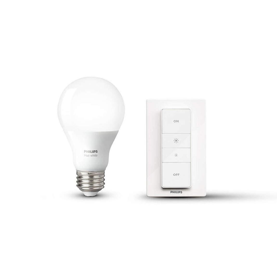 Philips Hue Wireless Dimming Kit E27 - Dimmschalter + Lampe - White