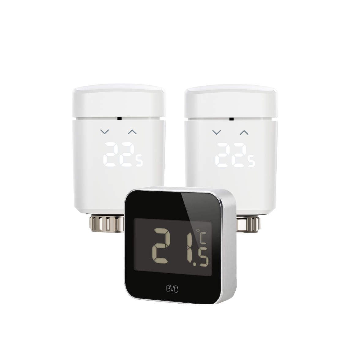 2 Elgato Eve Thermo (2. Gen.) + Eve Degree
