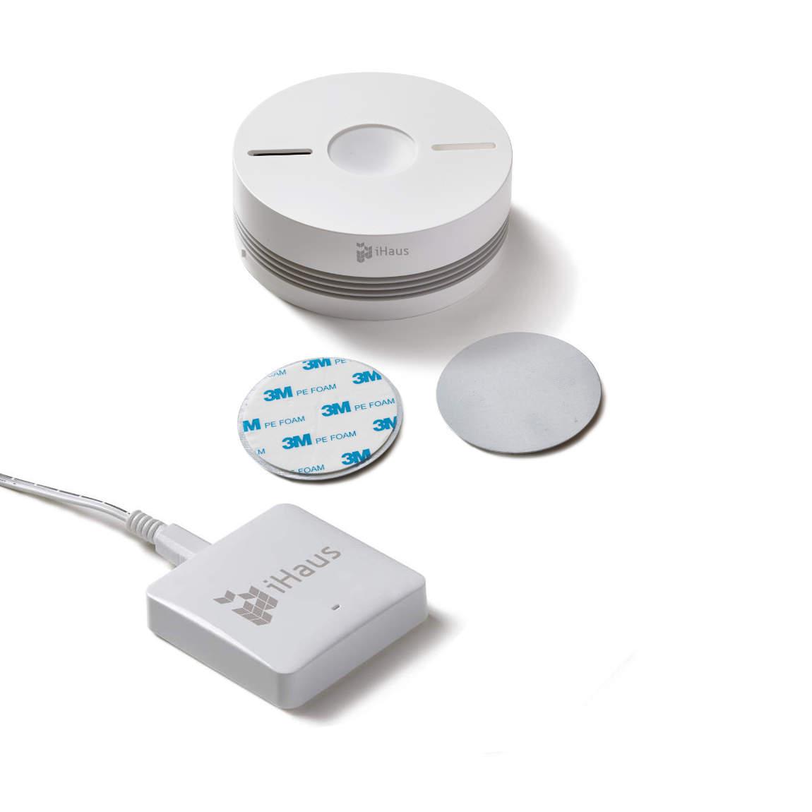 iHaus Gateway + Rauch- und Wärmemelder - weiß
