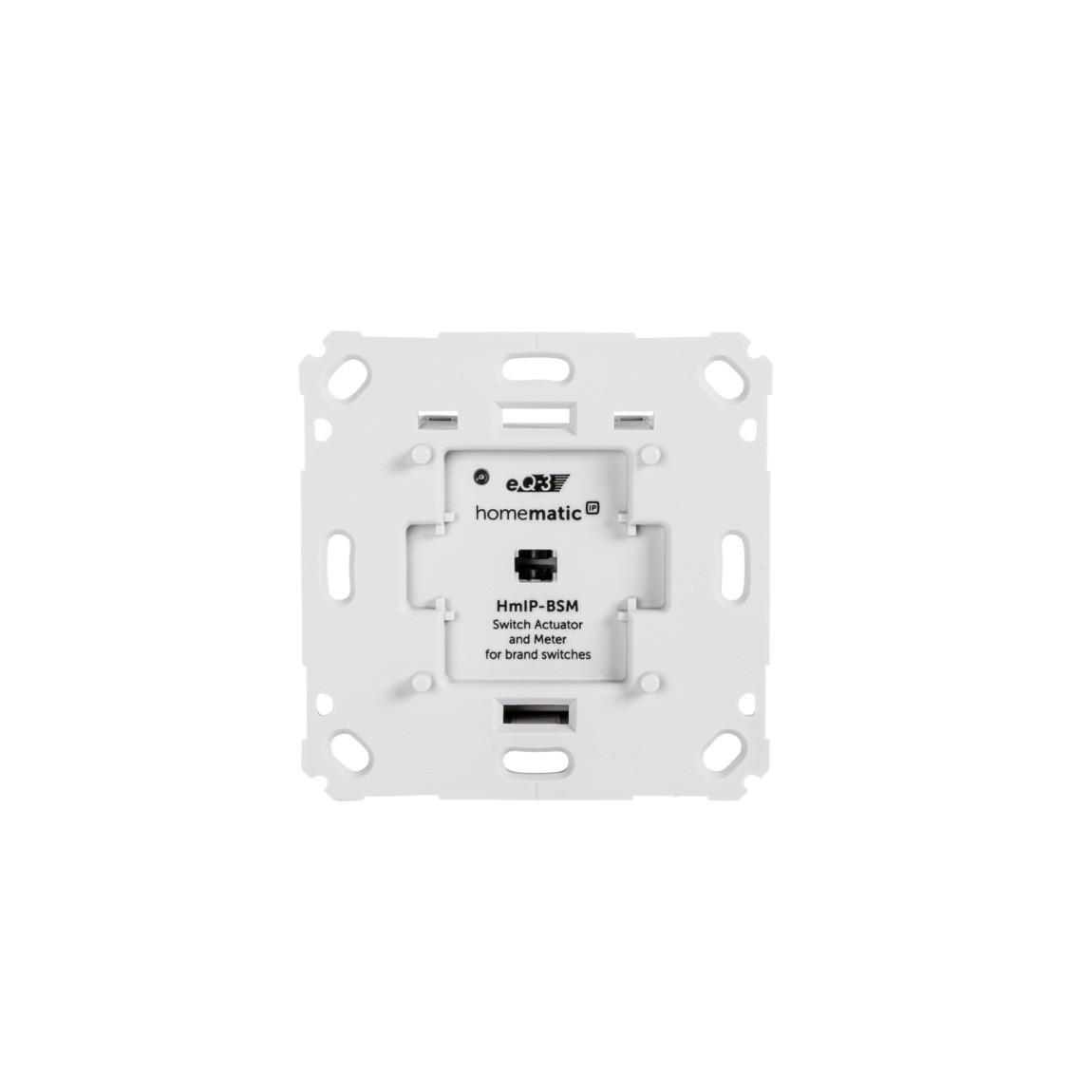 Homematic IP Schalt-Mess-Aktor für Markenschalter - weiß