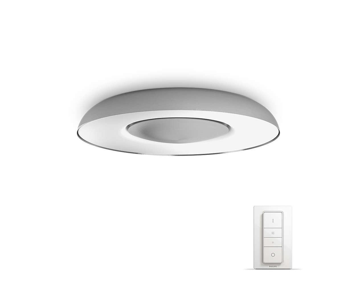 Philips Hue Still LED Deckenleuchte 2400lm inkl. Dimmschalter-Silver