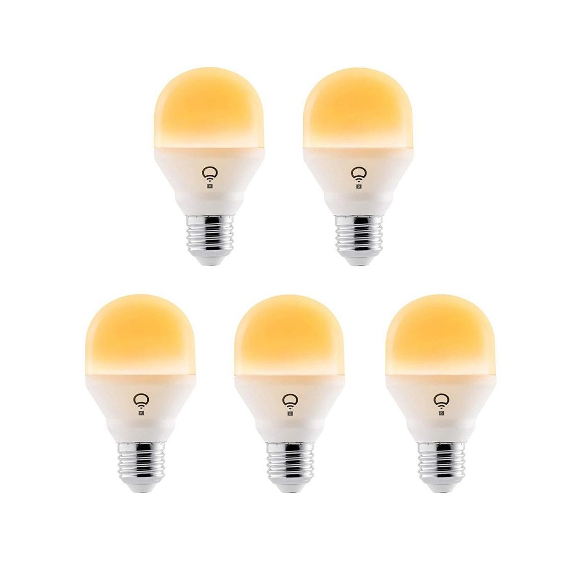 LIFX Mini Day & Dusk WLAN Glühbirne 4er-Set + gratis Lampe