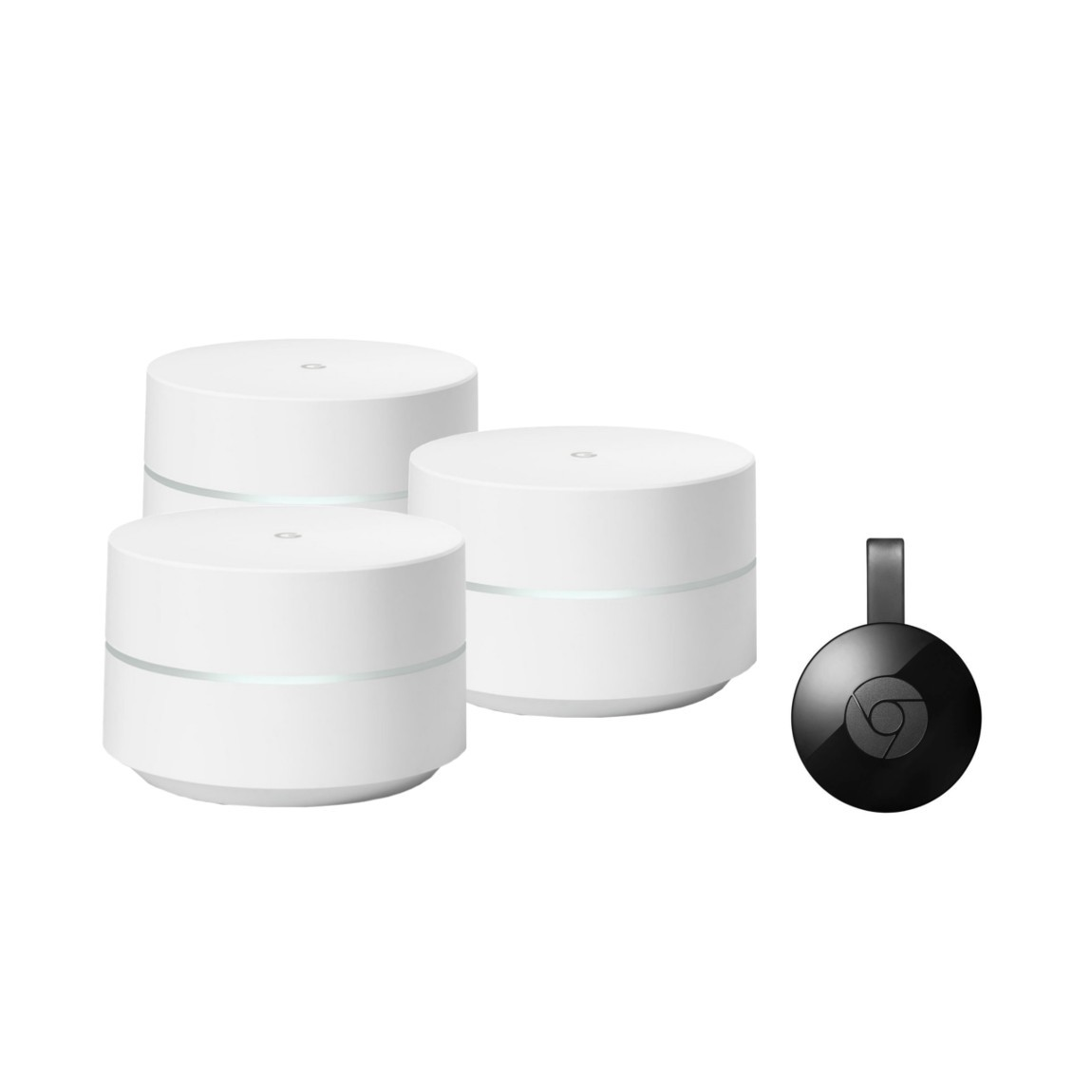 Google Wifi (Dreierpack) + Google Chromecast