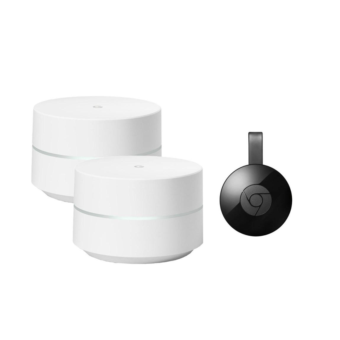 Google Wifi (Zweierpack) + Google Chromecast