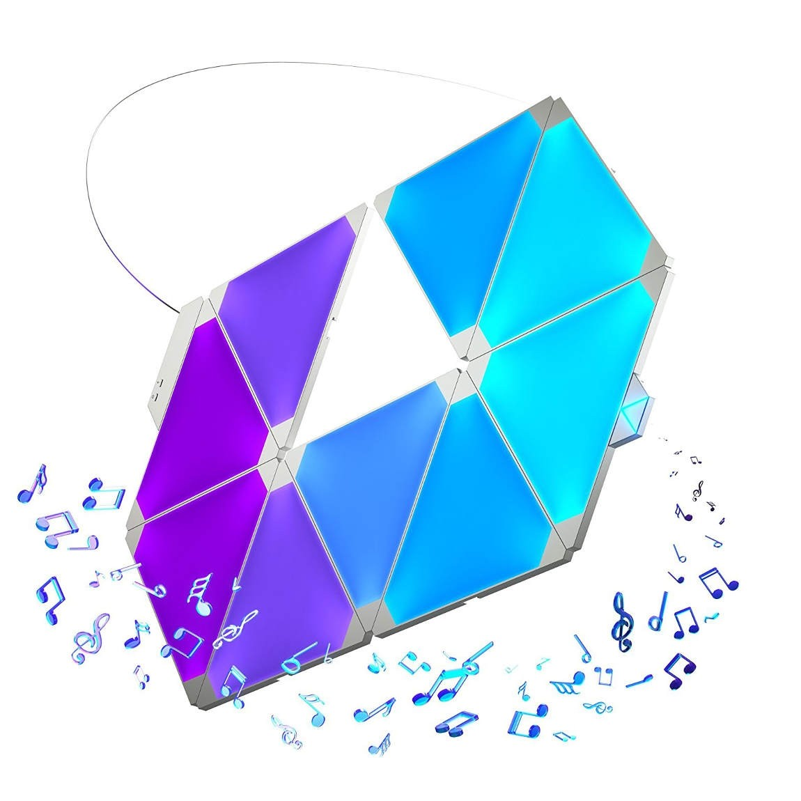 Nanoleaf Light Panels Rhythm Smarter Kit - modu...