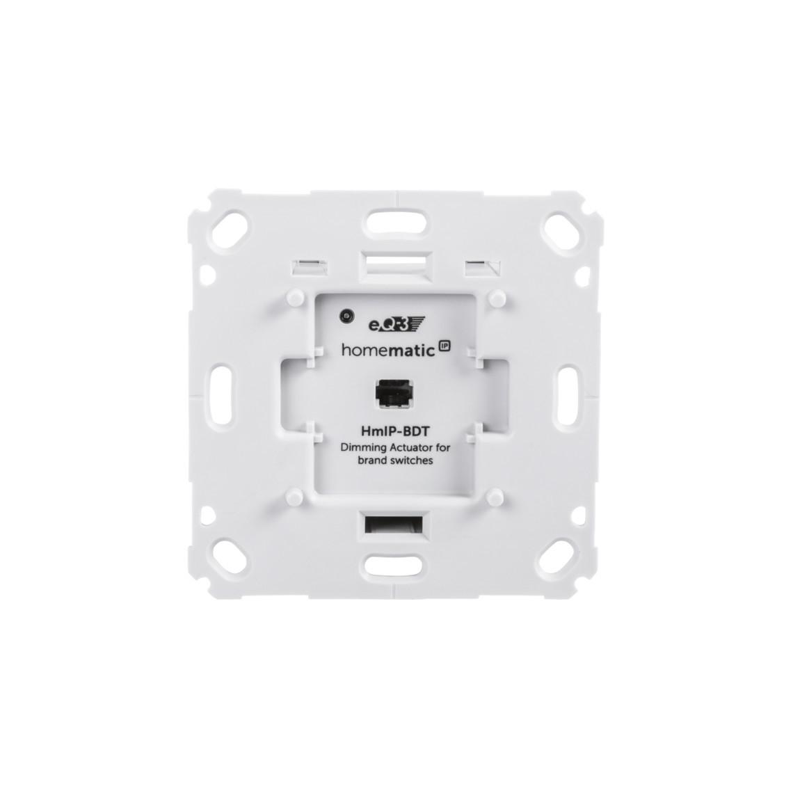 Homematic IP Dimmaktor für Markenschalter – Phasenabschnitt - weiß