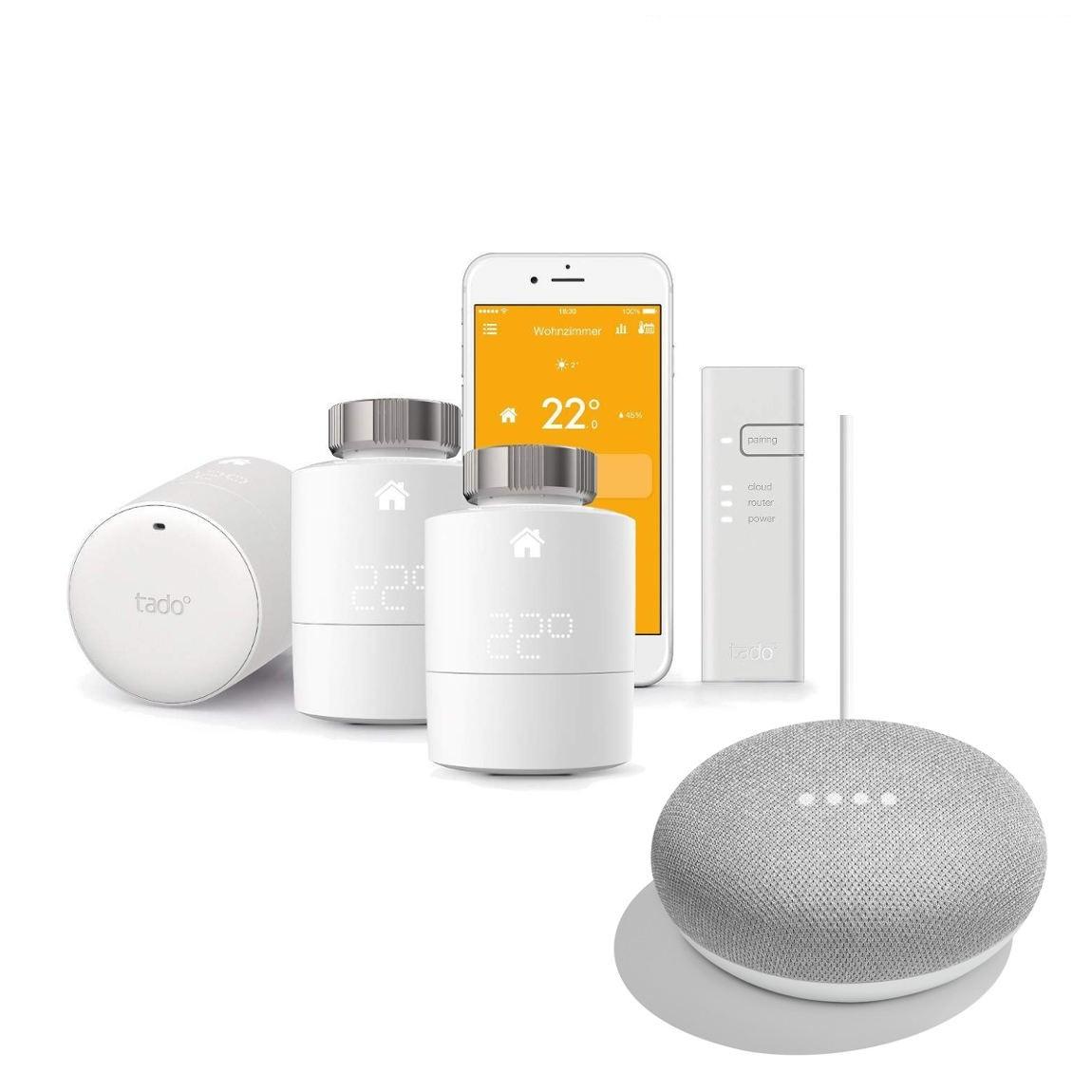 tado° 3er Starter Set + Google Home Mini