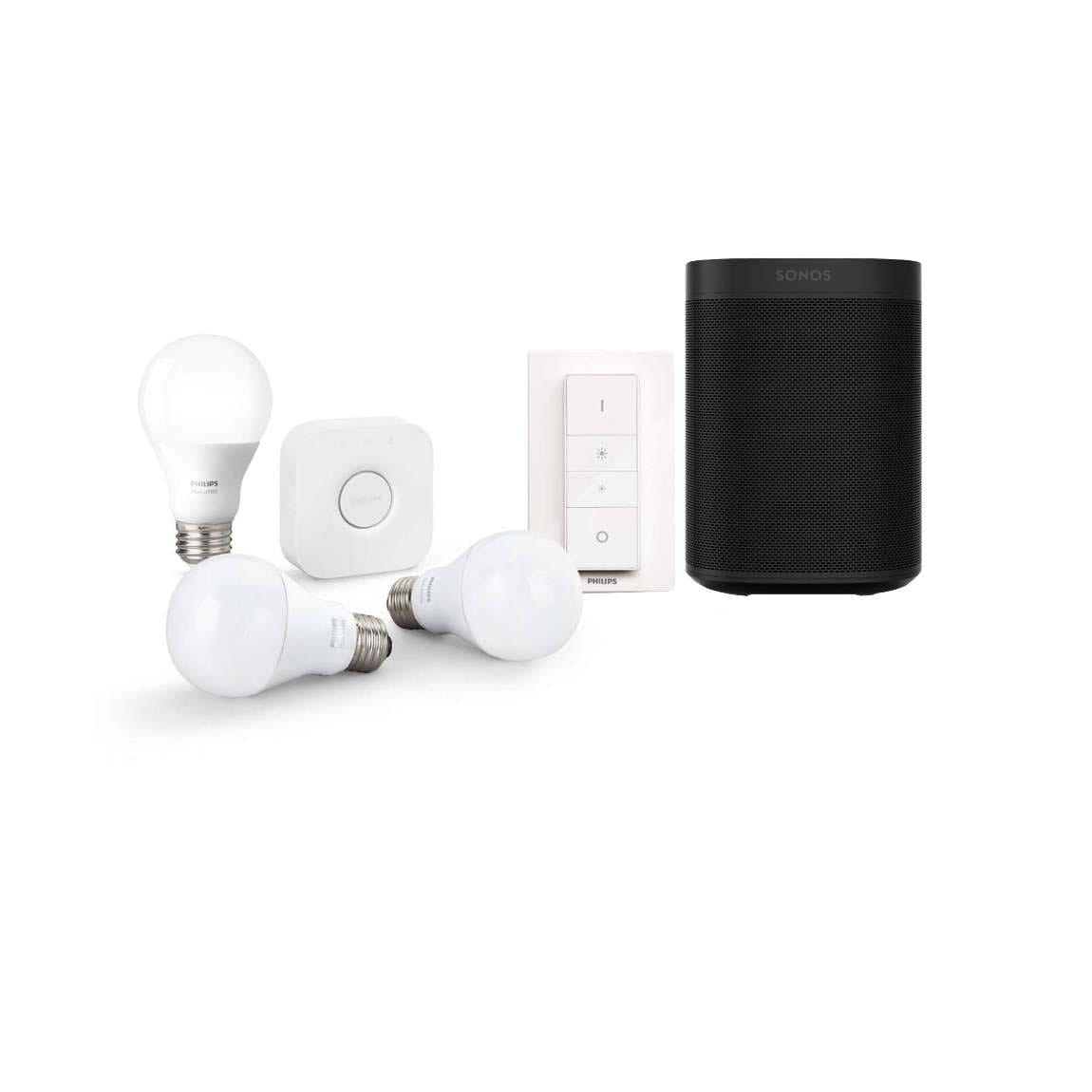 Sonos One + Philips Hue White E27 Starter Kit